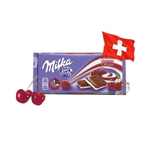 Шоколад молочный Milka Cherry Creme вишневый джем 100 г Швейцария