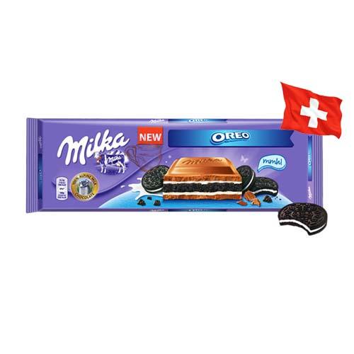 Шоколад молочный Milka с печеньем Oreo 300 г