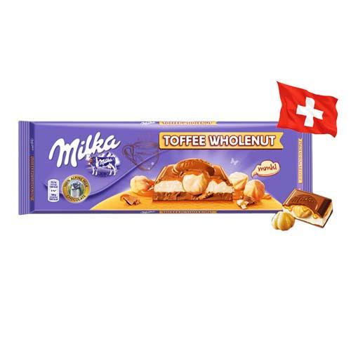 Шоколад молочный Milka Toffee Wholenut фундук в ирисе 300 г