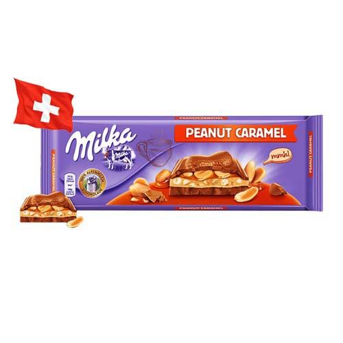 Шоколад молочный Milka Peanut Caramel арахис в карамели 276 г