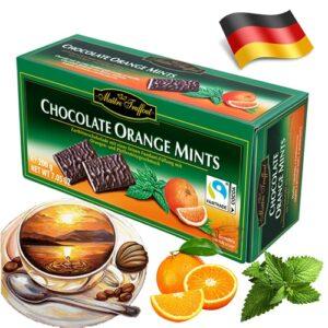 Шоколадные конфеты Maitre Truffout апельсин с ментолом 75 г Германия