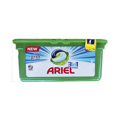 Капсулы для стирки Ariel Lenor 28 штук