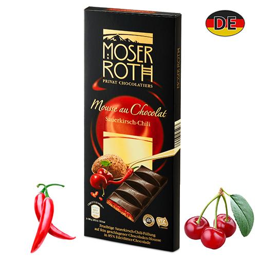 Шоколад черный Moser Roth Chili 185 г Германия