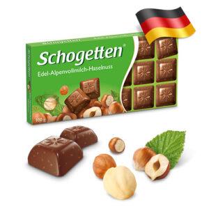 Шоколад молочный Shogetten с лесными орехами 100г Германия