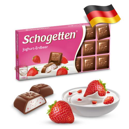 Шоколад молочный Shogetten Yoghurt-Erdbeer 100 г Германия