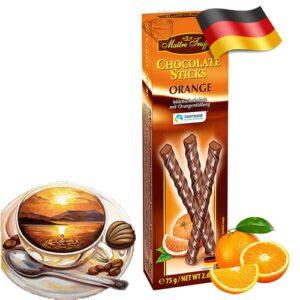 Шоколадные палочки Maitre Truffout с вкусом апельсина 75 г Германия