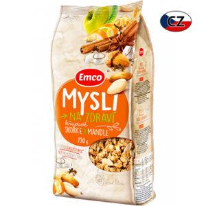 Мюсли Emco миндаль, яблоко и корица 750г Чехия