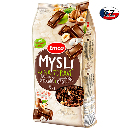 Мюсли Emco шоколадные с орехами 750г Чехия