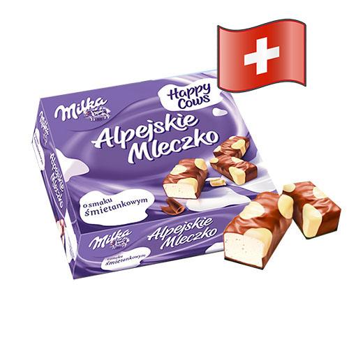 Конфеты Milka Альпийское Молоко с белым шоколадом 330гр Швейцария