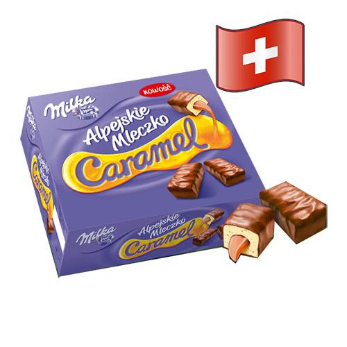 Конфеты Milka Альпийское Молоко с карамелью 350гр Швейцария