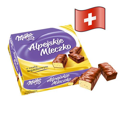 Конфеты Milka Альпийское Молоко с ванилином 330гр Швейцария