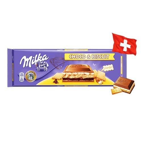 Шоколад молочный Milka Choco & Biscuit печенье с шоколадом 300g
