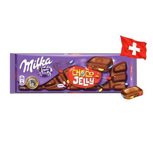 Шоколад молочный Milka Choco Jelly желейки и драже 250 г
