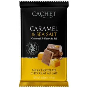 Шоколад молочный Cachet карамель и морская соль 300 г