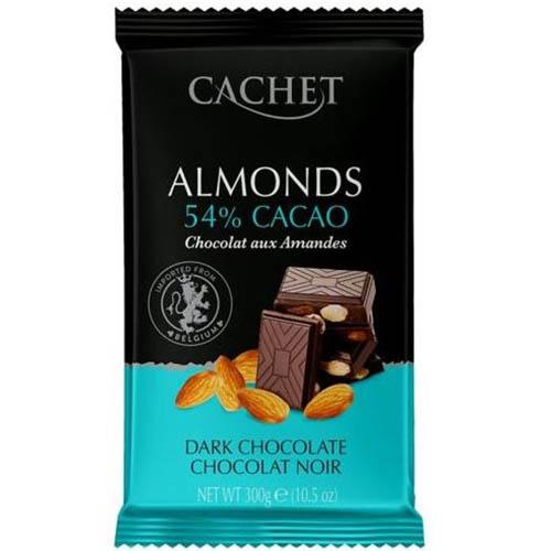Шоколад черный Cachet миндаль