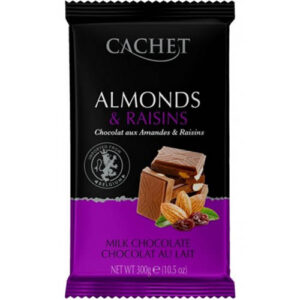 Шоколад молочный Cachet Almonds Raisins