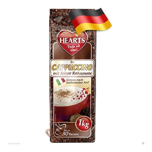 Капучино-порошок Hearts со вкусом какао 1000 грамм Германия