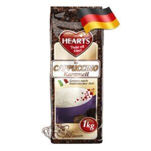 Капучино-порошок Hearts с карамельным вкусом 1000 грамм Германия