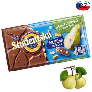 Шоколад молочный с грушей и арахисом Studentska Pecet 180 г Чехия