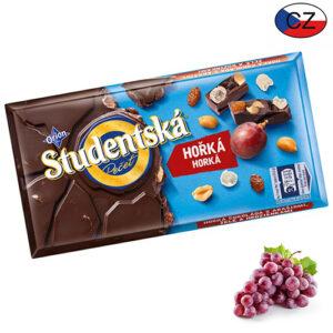 Шоколад черный с изюмом и арахисом Studentska Pecet 180 г Чехия