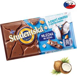Шоколад молочный с кокосом и арахисом Studentska Pecet 180 г Чехия