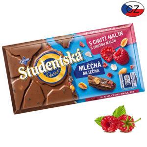 Шоколад молочный с малиной и арахисом Studentska Pecet 180 г Чехия