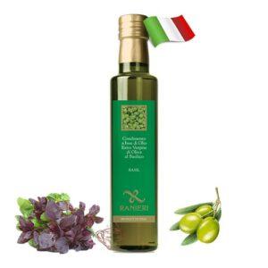 Масло оливковое Ranieri с экстрактом базилика 250мл Италия