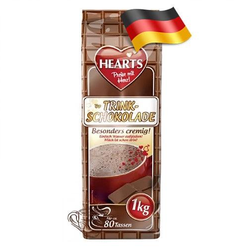 Капучино-порошок Hearts с шоколадным вкусом 1000 грамм Германия