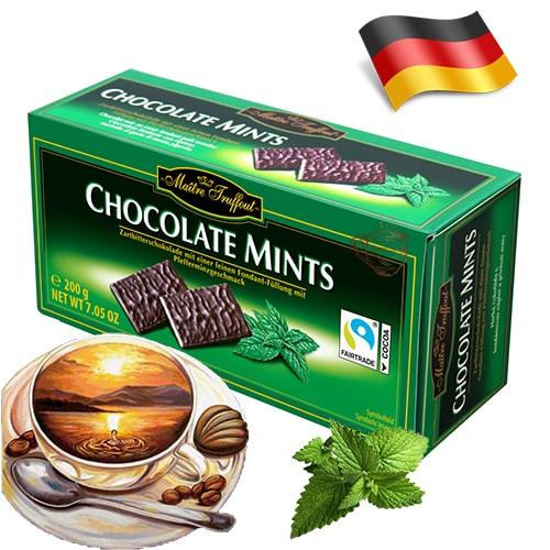 Шоколадные конфеты Maitre Truffout с ментолом 75 г Германия