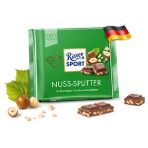 Шоколад молочный с кусочками ореха Ritter Sport Nuss 100гр Германия