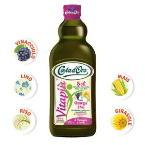масло costa d'oro omega 3. costa d'oro 5 oli