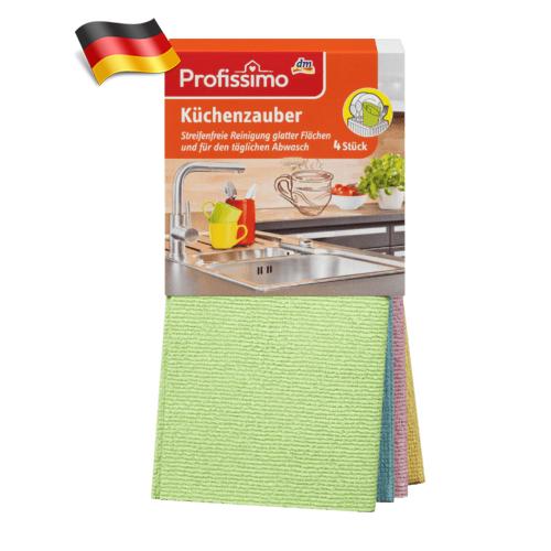 Универсальные полотенца микрофибра DenkMit Profissimo 4шт Германия
