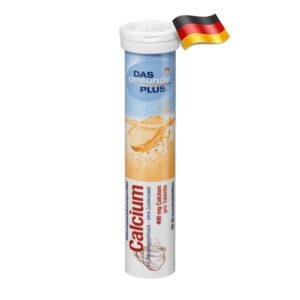 Шипучие таблетки Das gesunde plus с кальцием 20шт Германия