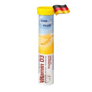 Шипучие таблетки Das gesunde plus с витамином D3 20шт Германия