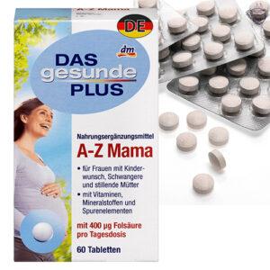 Комплекс минералов и витаминов для беременных Das gesunde plus A-Z Mama 60шт Германия