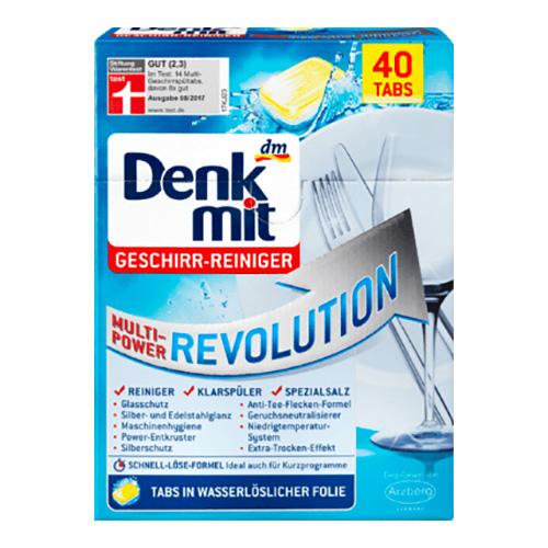 Таблетки для посудомоечных машин Denkmit Revolution 40шт