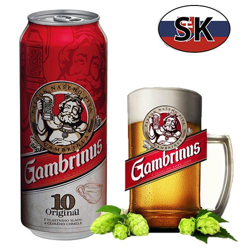 Пиво баночное светлое Gambrinus 10% 0,5л Словакия