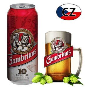 Пиво баночное светлое Gambrinus 10% 0,5л Чехия