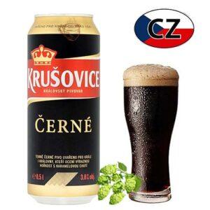 Пиво баночное темное Krušovice Černe Чехия