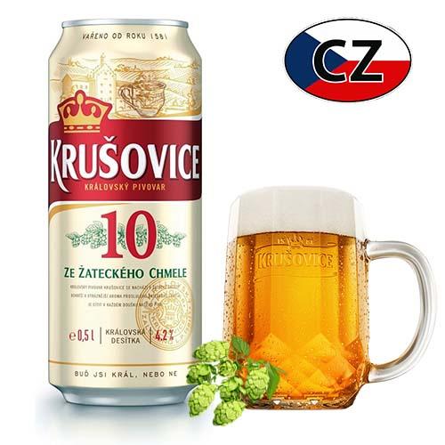 Пиво баночное светлое Krušovice 10% Чехия