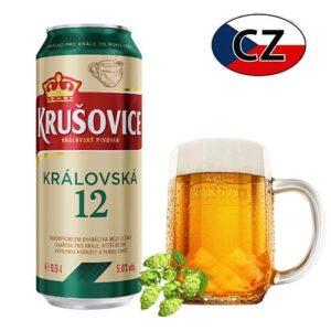 Пиво баночное светлое Krušovice 12% Чехия
