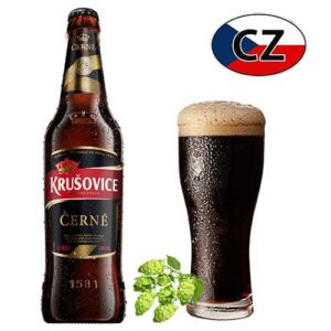 Пиво стекло темное Krušovice Černe Чехия