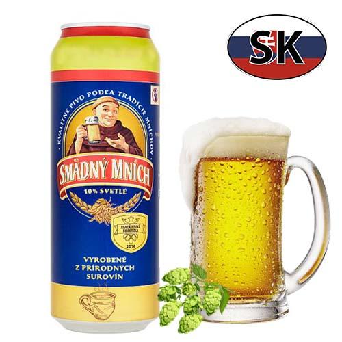 Пиво баночное светлое Smädný Mních 10% 0,5л Словакия
