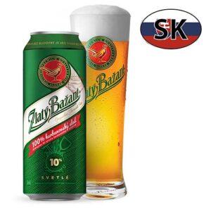 Пиво баночное светлое Zlatý Bažant 10% 0,5л Словакия