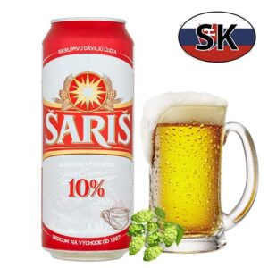 Пиво баночное светлое Saris 10% 0,5л Словакия