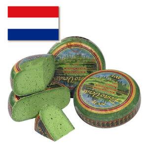 Сыр Базирон Песто зеленый кусковой Голландия