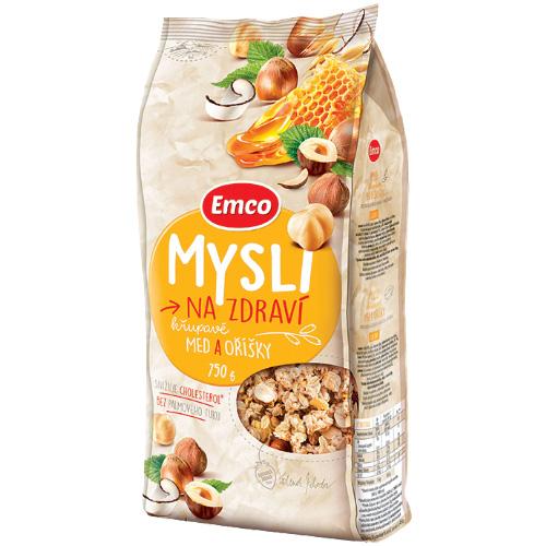 Мюсли Emco медовые с орехами 750г Чехия