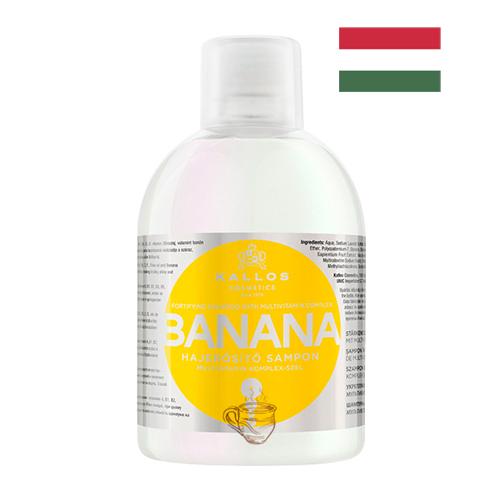 Шампунь для укрепления волос с мультивитаминным комплексом Kallos Banana 1л Венгрия