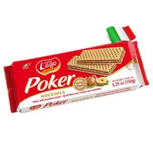 Вафли с ореховым кремом 75% Lago Poker 150g Италия