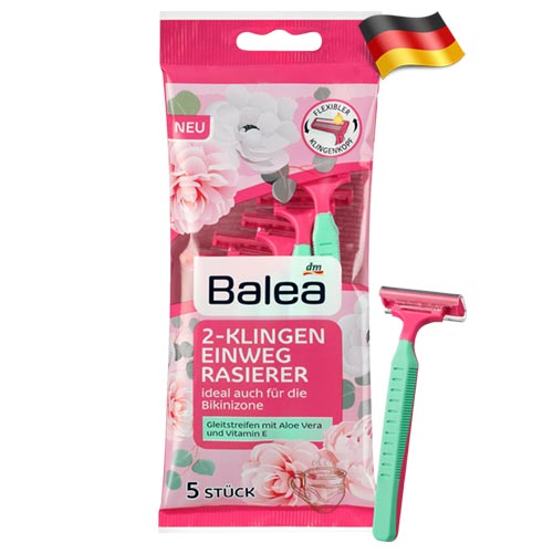 Набор одноразовых бритв Balea Women 2 Германия